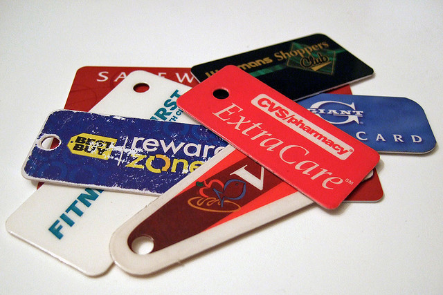 Loyalty cards, from Flickr, joelogon
